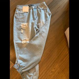 Kittenish Pants & Jumpsuits - Kittenish jean joggers